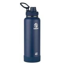 Takeya Actives Insulated Steel Bottle Midnight 1200ml Spout Lid
