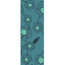 Gaiam Classic Starter Yoga Mat 3mm Teal Blossom