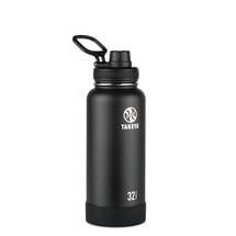 Takeya Actives Insulated Steel Bottle Onyx 950ml Spout Lid