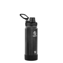Takeya Actives Insulated Steel Bottle Slate 530ml Spout Lid