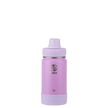 Takeya Actives Insulated Steel Bottle Lilac 415ml Spout Lid