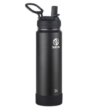 Takeya Actives Onyx Insulated Steel Bottle With Straw Lid 700ml/24oz