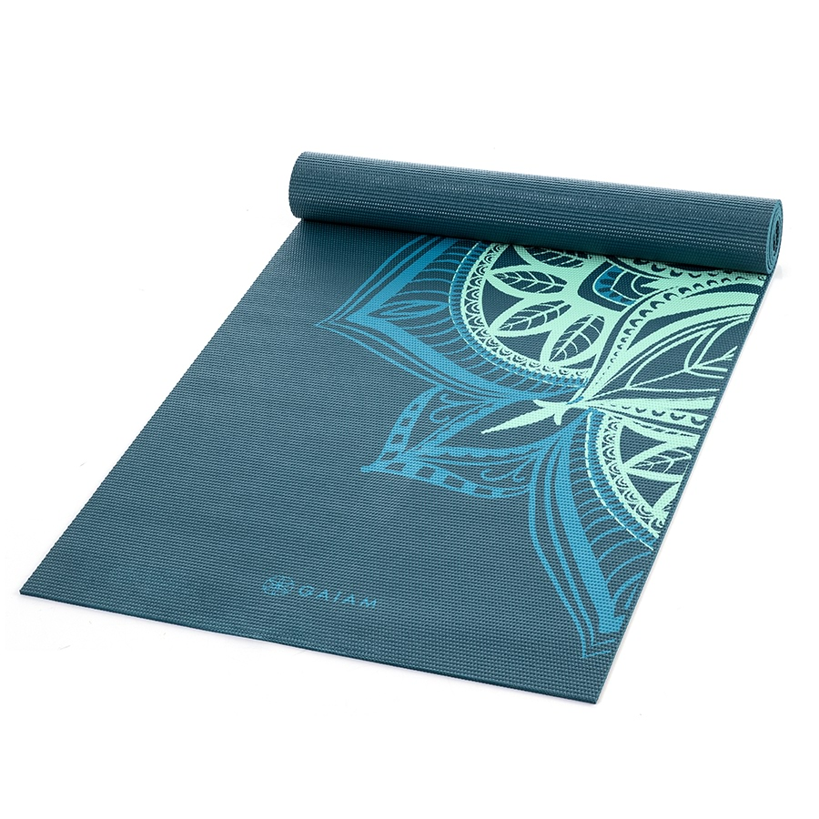 Gaiam Essential Support Yoga Mat 5mm Ocean Emerald_27-72414_1